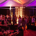 The line array Wave sound complements sea waves near Beach Club in Odessa